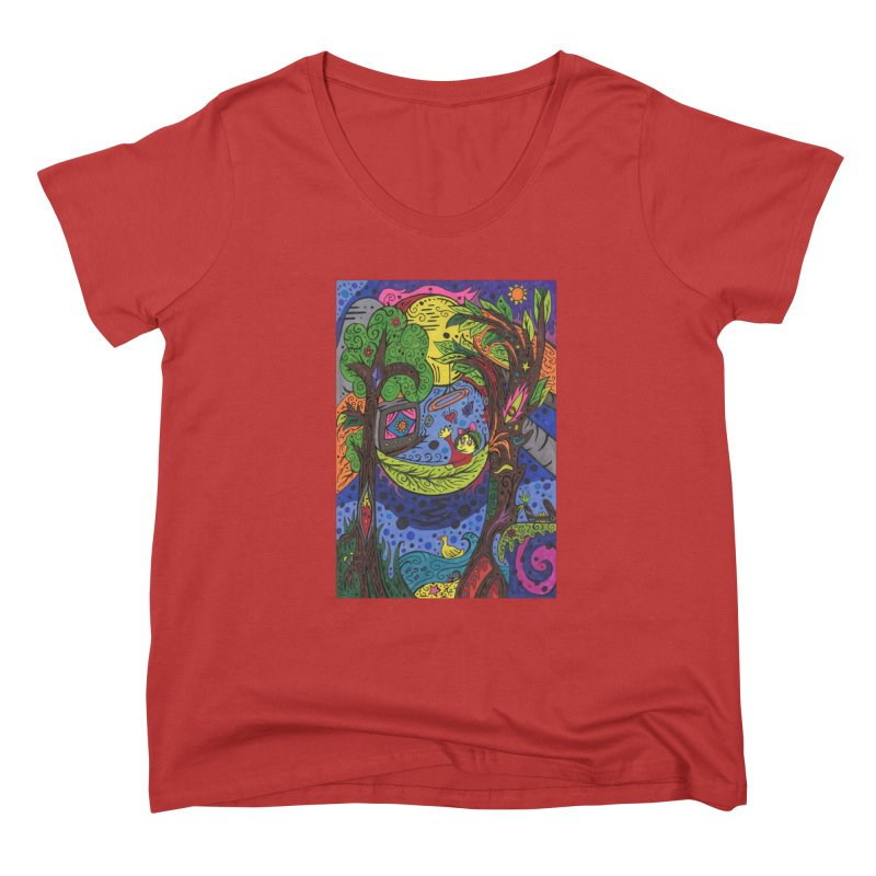 Child of Leaves of the Patella Tarot Fitted Clothing Styles Scoop Neck by Paint AF's Artist Shop