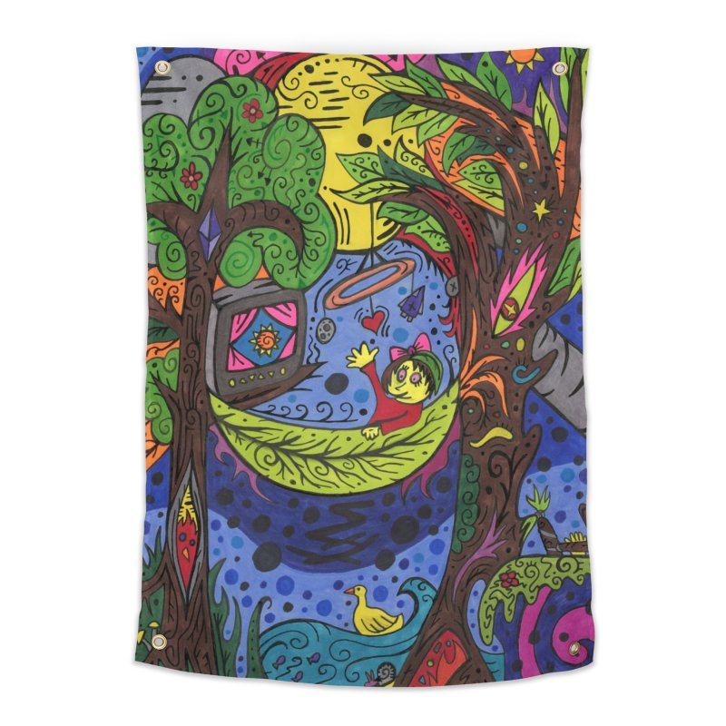 Child of Leaves of the Patella Tarot Home, Décor & Cozy Tapestry by Paint AF's Artist Shop