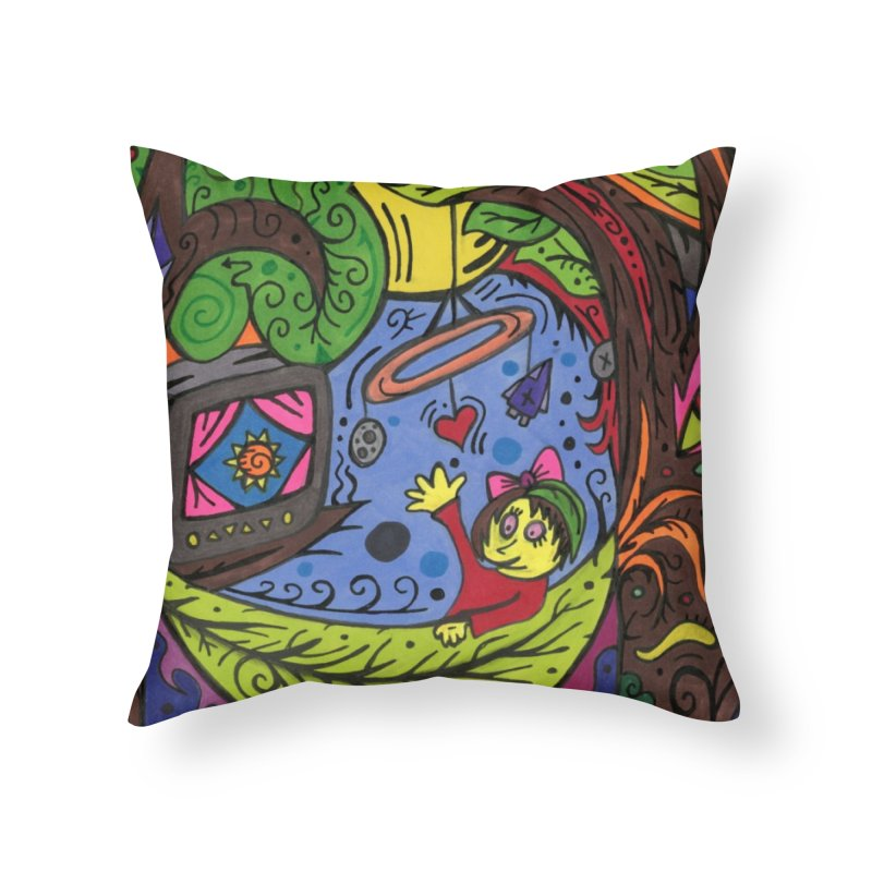 Child of Leaves of the Patella Tarot Home, Décor & Cozy Throw Pillow by Paint AF's Artist Shop