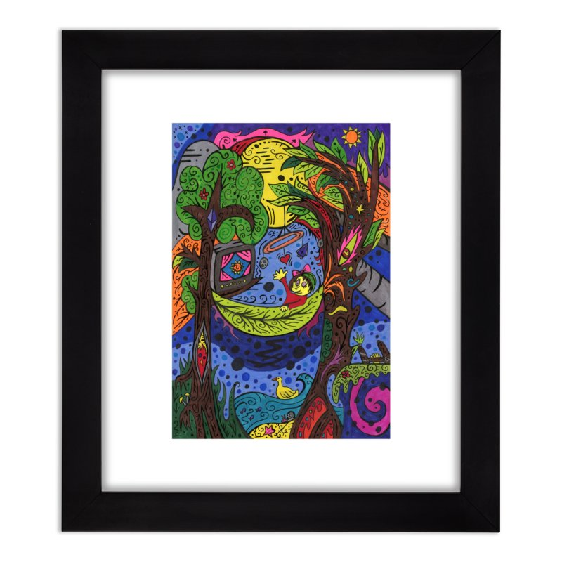 Child of Leaves of the Patella Tarot Home, Décor & Cozy Framed Fine Art Print by Paint AF's Artist Shop