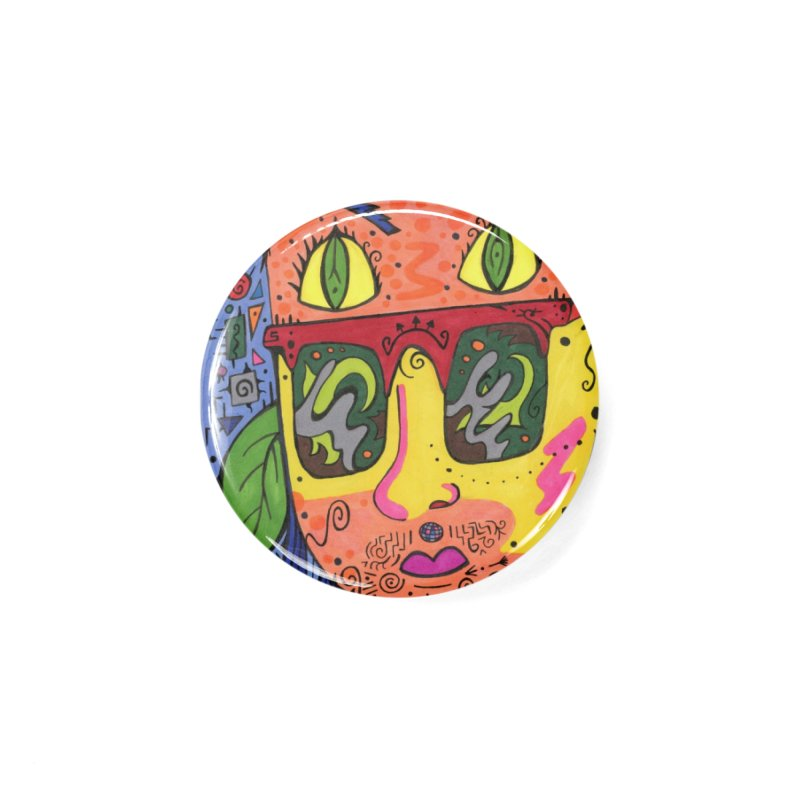 4 of Leaves of the Patella Tarot Masks, Gifts & Accessories Button by Paint AF's Artist Shop