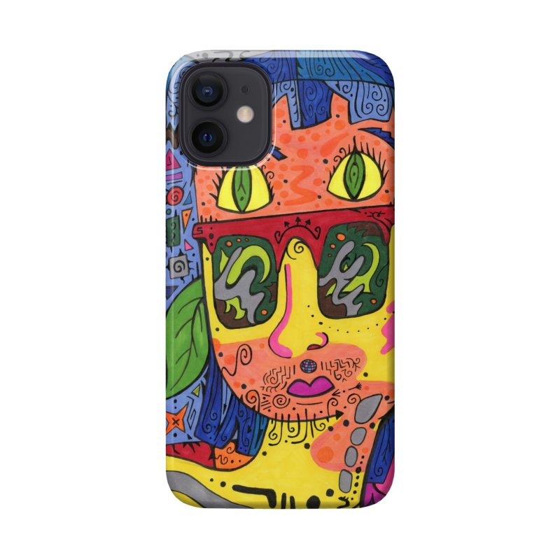 4 of Leaves of the Patella Tarot Masks, Gifts & Accessories Phone Case by Paint AF's Artist Shop