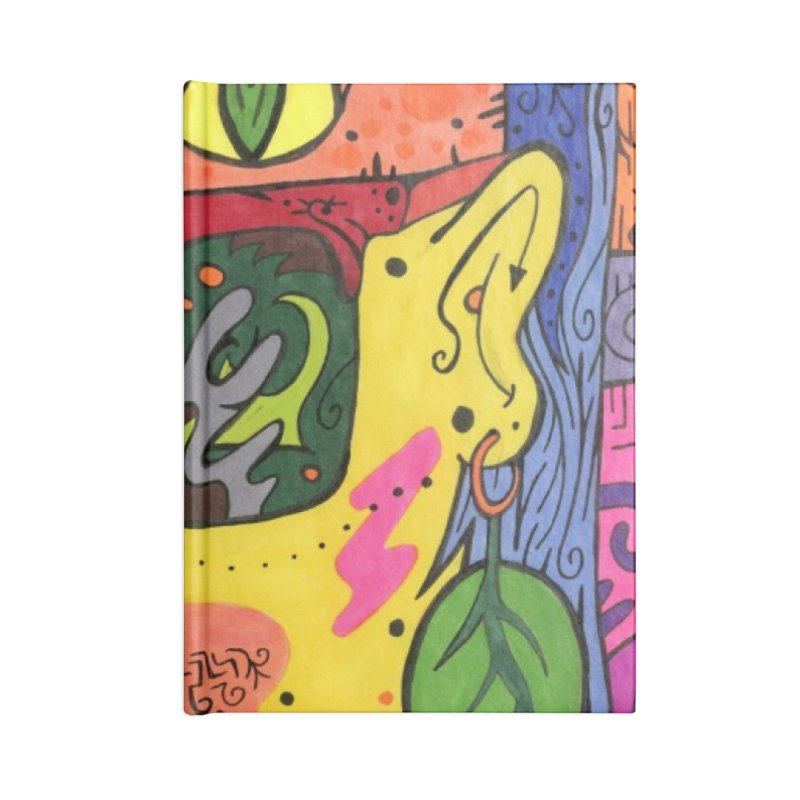 4 of Leaves of the Patella Tarot Masks, Gifts & Accessories Notebook by Paint AF's Artist Shop