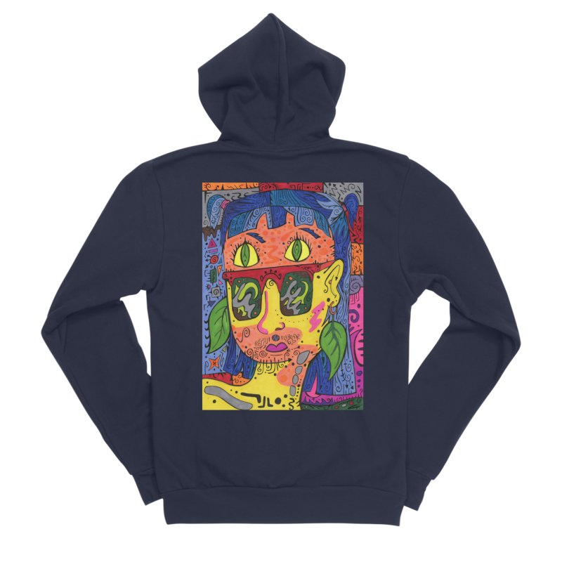 4 of Leaves of the Patella Tarot Fitted Clothing Styles Zip-Up Hoody by Paint AF's Artist Shop