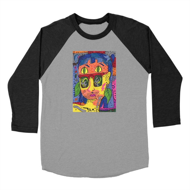 4 of Leaves of the Patella Tarot Fitted Clothing Styles Longsleeve T-Shirt by Paint AF's Artist Shop
