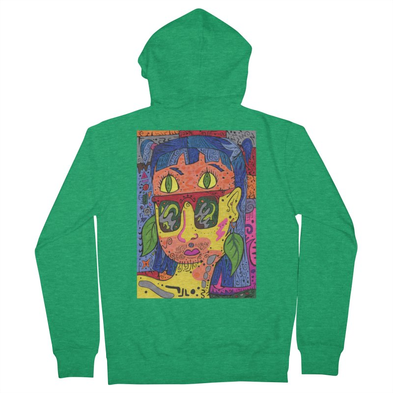 4 of Leaves of the Patella Tarot Comfortable Styles Zip-Up Hoody by Paint AF's Artist Shop