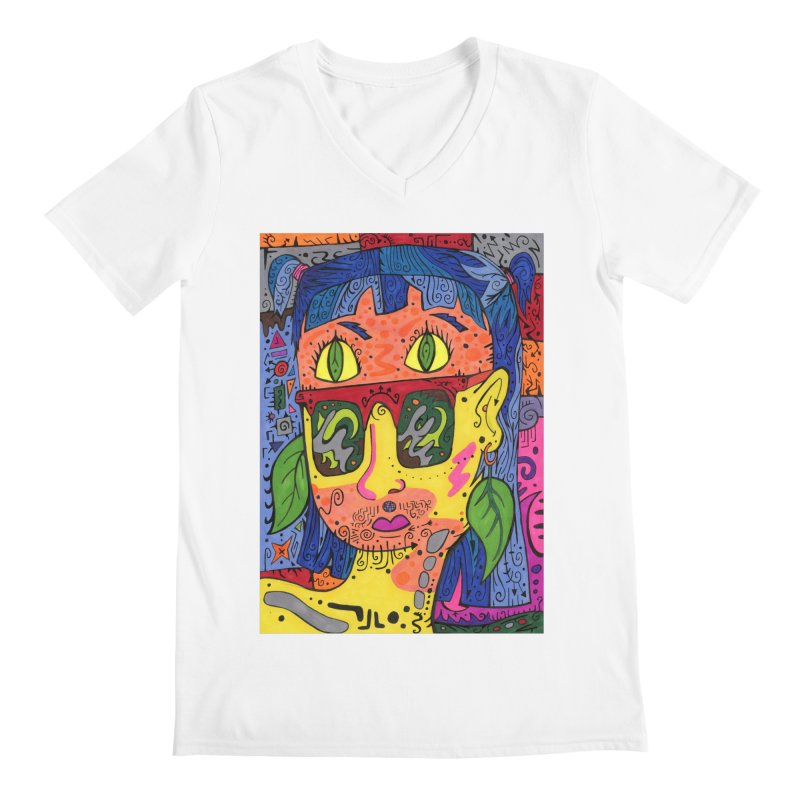 4 of Leaves of the Patella Tarot Comfortable Styles V-Neck by Paint AF's Artist Shop