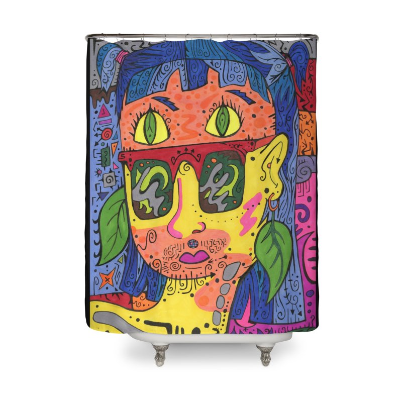 4 of Leaves of the Patella Tarot Home, Décor & Cozy Shower Curtain by Paint AF's Artist Shop