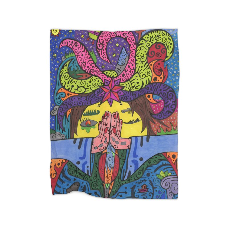 The Patella Tarot - The Star Home, Décor & Cozy Blanket by Paint AF's Artist Shop