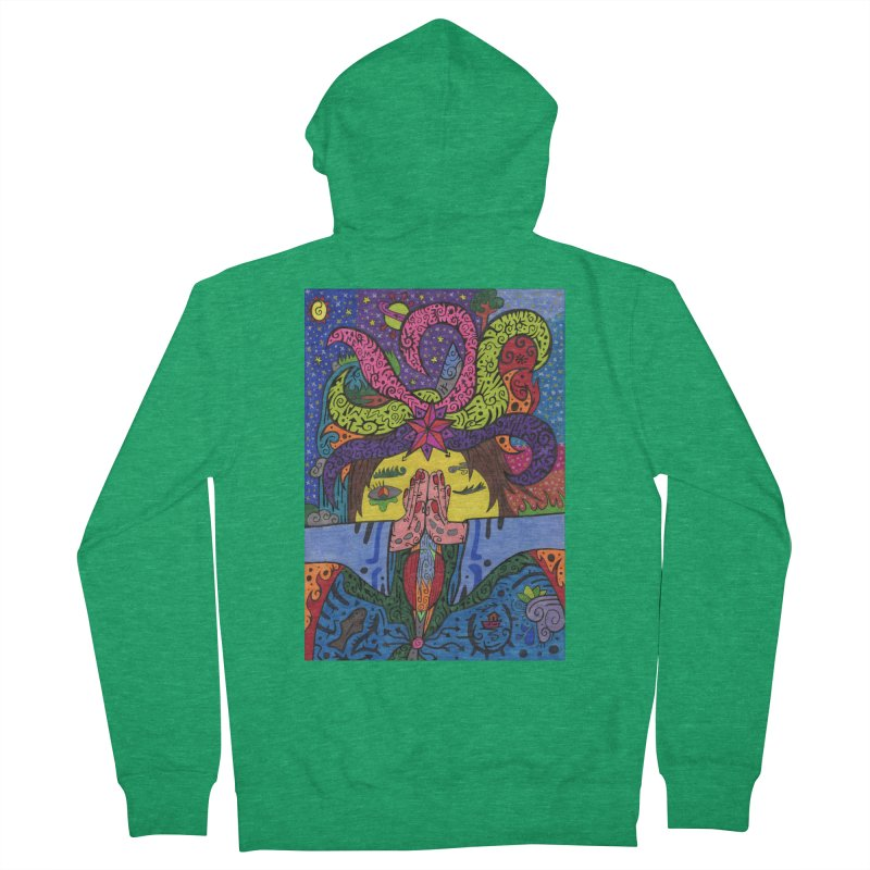 The Patella Tarot - The Star Comfortable Styles Zip-Up Hoody by Paint AF's Artist Shop