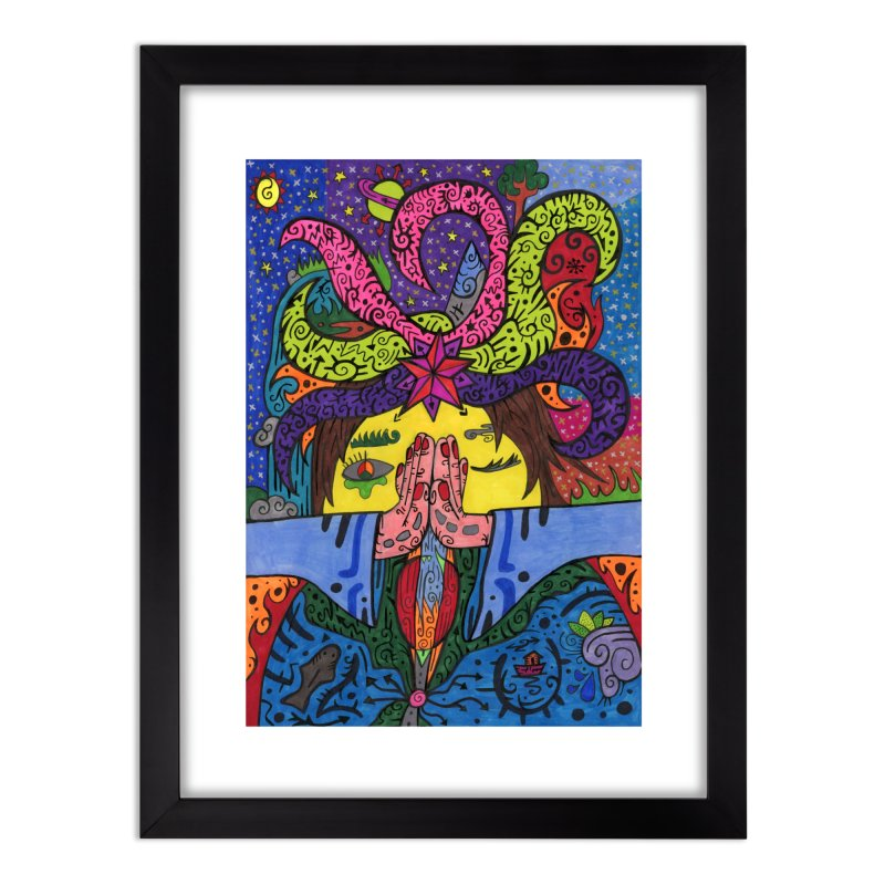 The Patella Tarot - The Star Home, Décor & Cozy Framed Fine Art Print by Paint AF's Artist Shop