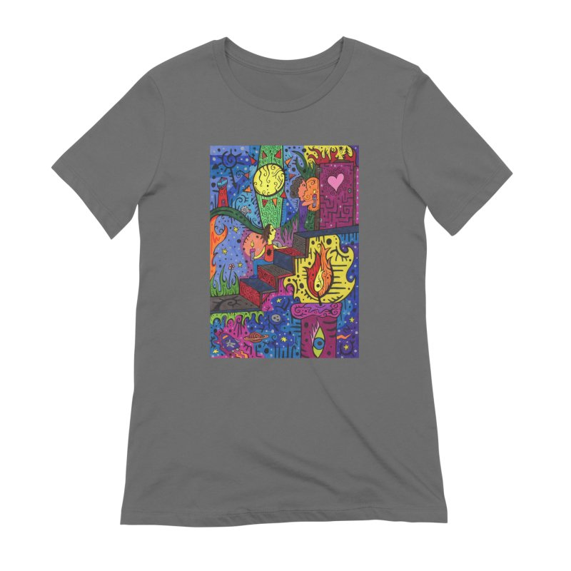 3 of Candles of the Patella Tarot: Opportunities Fitted Clothing Styles T-Shirt by Paint AF's Artist Shop