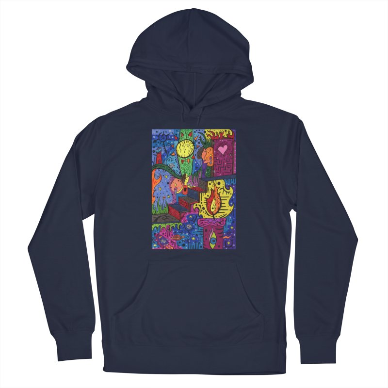 3 of Candles of the Patella Tarot: Opportunities Comfortable Styles Pullover Hoody by Paint AF's Artist Shop