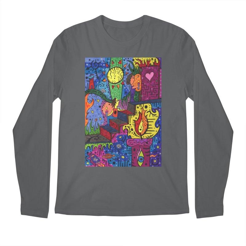 3 of Candles of the Patella Tarot: Opportunities Comfortable Styles Longsleeve T-Shirt by Paint AF's Artist Shop
