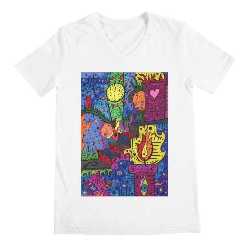 3 of Candles of the Patella Tarot: Opportunities Comfortable Styles V-Neck by Paint AF's Artist Shop
