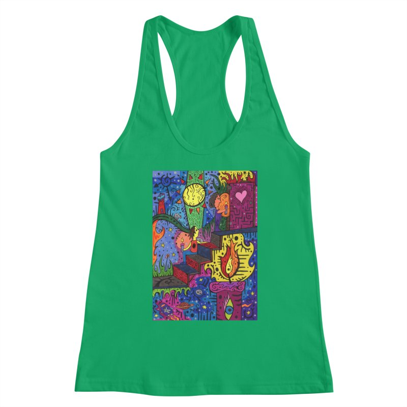 3 of Candles of the Patella Tarot: Opportunities Fitted Clothing Styles Tank by Paint AF's Artist Shop