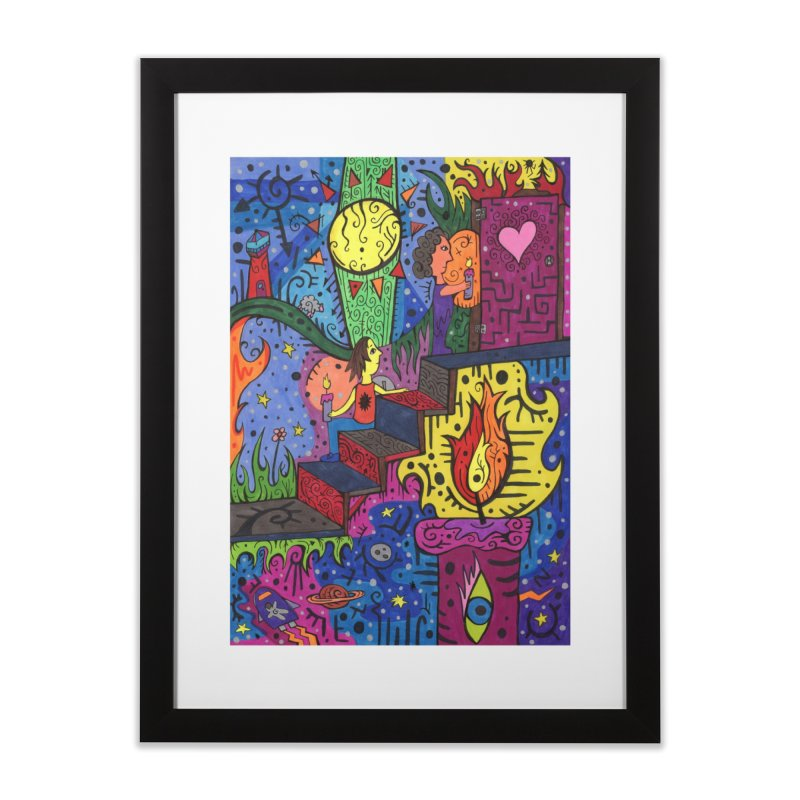 3 of Candles of the Patella Tarot: Opportunities Home, Décor & Cozy Framed Fine Art Print by Paint AF's Artist Shop