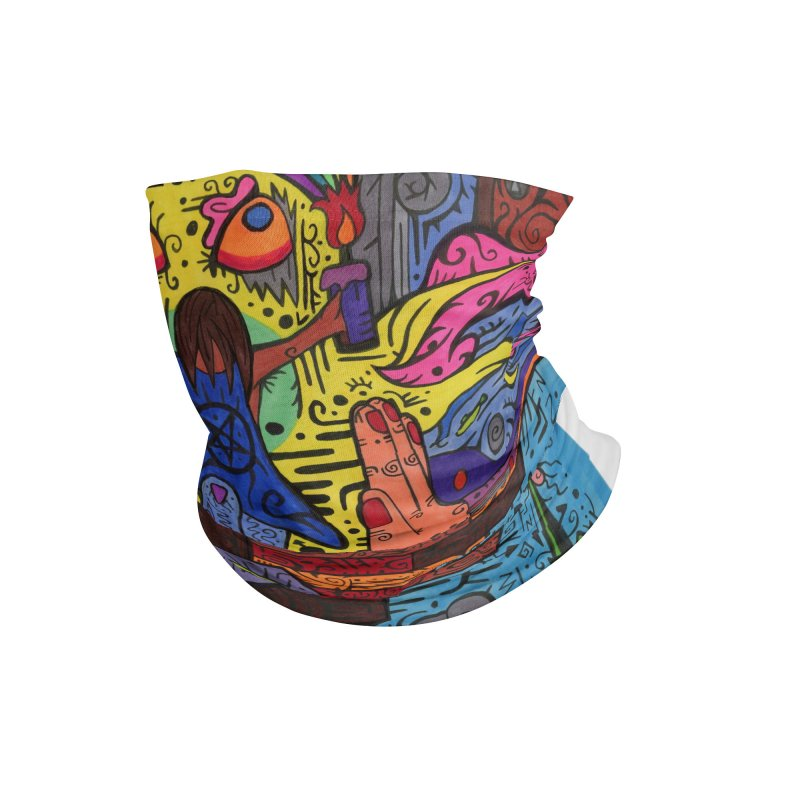 2 of Candles of the Patella Tarot: Decisions Masks, Gifts & Accessories Neck Gaiter by Paint AF's Artist Shop
