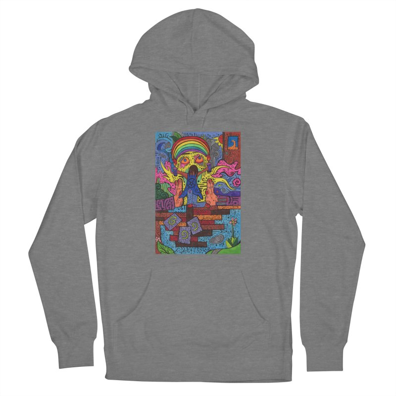 2 of Candles of the Patella Tarot: Decisions Fitted Clothing Styles Pullover Hoody by Paint AF's Artist Shop