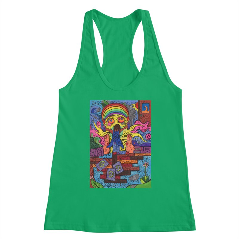 2 of Candles of the Patella Tarot: Decisions Fitted Clothing Styles Tank by Paint AF's Artist Shop
