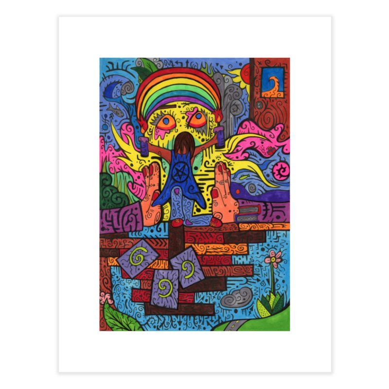 2 of Candles of the Patella Tarot: Decisions Home, Décor & Cozy Fine Art Print by Paint AF's Artist Shop