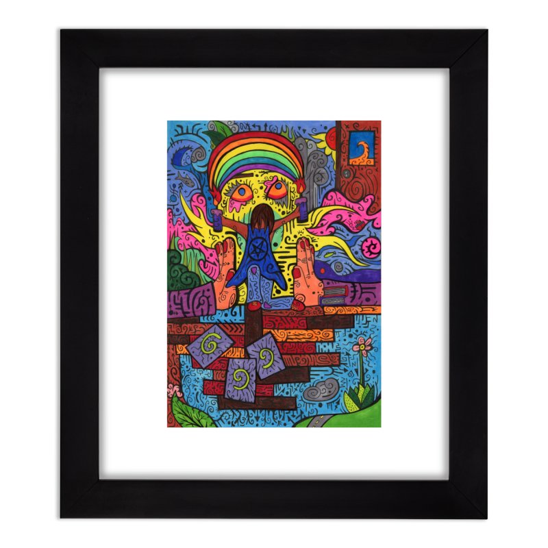 2 of Candles of the Patella Tarot: Decisions Home, Décor & Cozy Framed Fine Art Print by Paint AF's Artist Shop