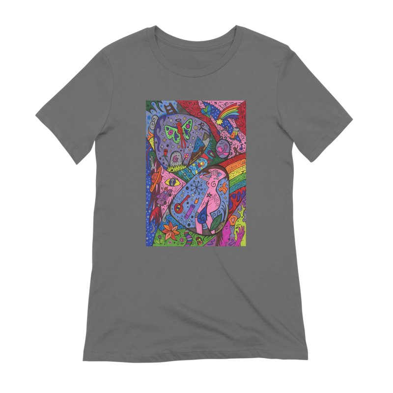 The Patella Tarot - The Patella (World) Fitted Clothing Styles T-Shirt by Paint AF's Artist Shop