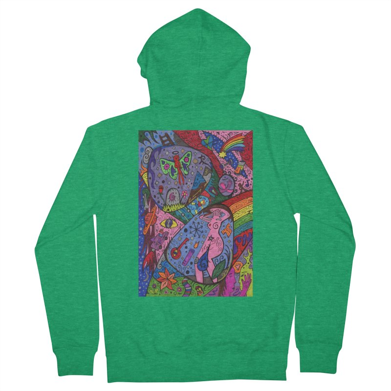 The Patella Tarot - The Patella (World) Comfortable Styles Zip-Up Hoody by Paint AF's Artist Shop