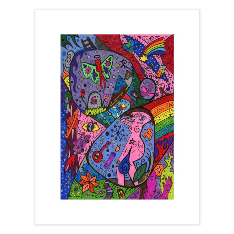 The Patella Tarot - The Patella (World) Home, Décor & Cozy Fine Art Print by Paint AF's Artist Shop