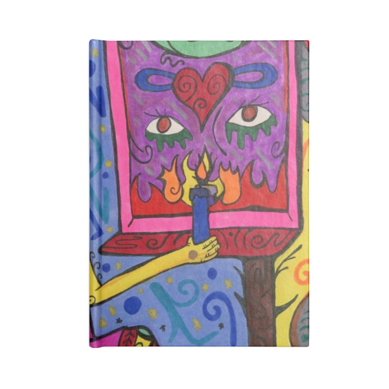 Adult of Candles of the Patella Tarot Masks, Gifts & Accessories Notebook by Paint AF's Artist Shop