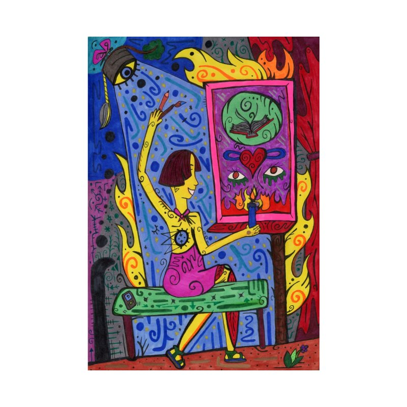 Adult of Candles of the Patella Tarot   by Paint AF's Artist Shop