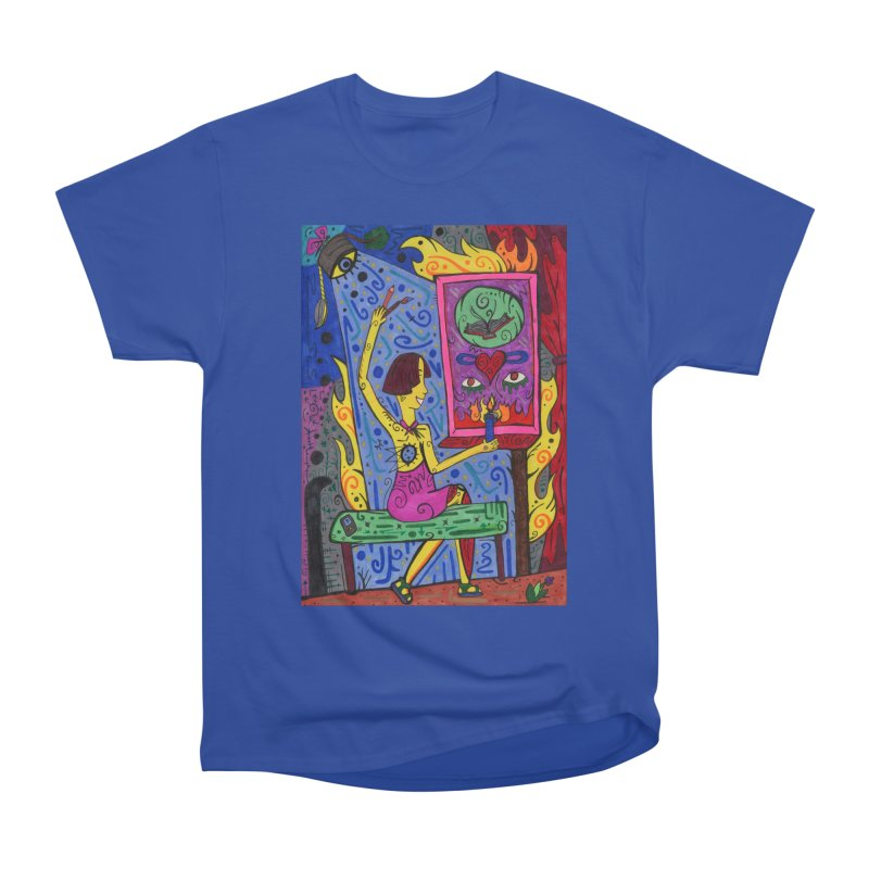 Adult of Candles of the Patella Tarot Fitted Clothing Styles T-Shirt by Paint AF's Artist Shop