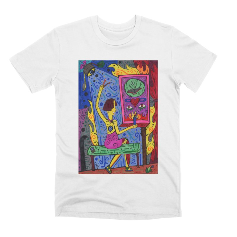 Adult of Candles of the Patella Tarot Comfortable Styles T-Shirt by Paint AF's Artist Shop