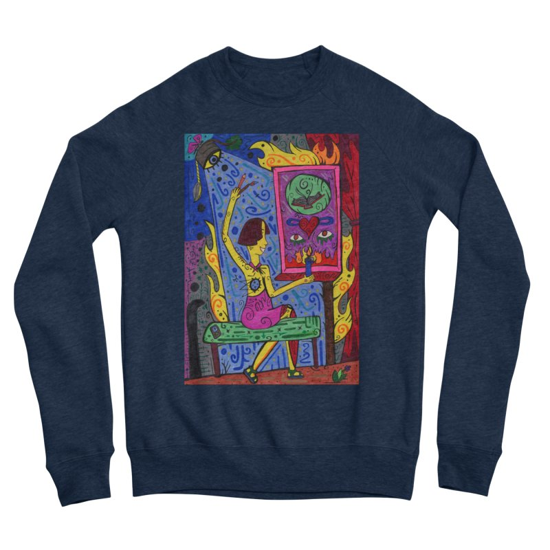Adult of Candles of the Patella Tarot Comfortable Styles Sweatshirt by Paint AF's Artist Shop