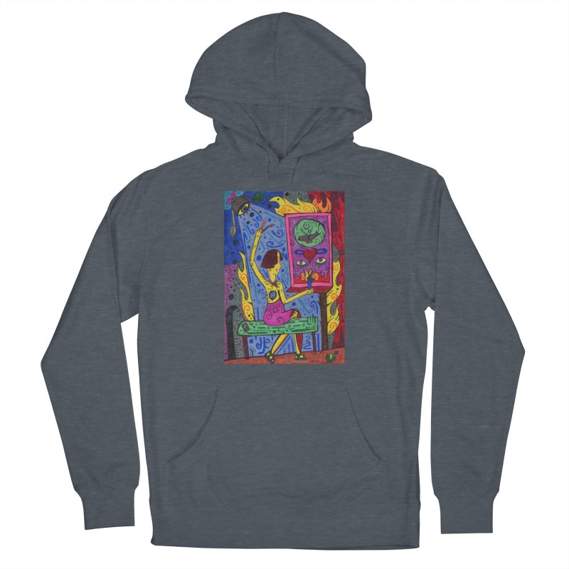 Adult of Candles of the Patella Tarot Comfortable Styles Pullover Hoody by Paint AF's Artist Shop