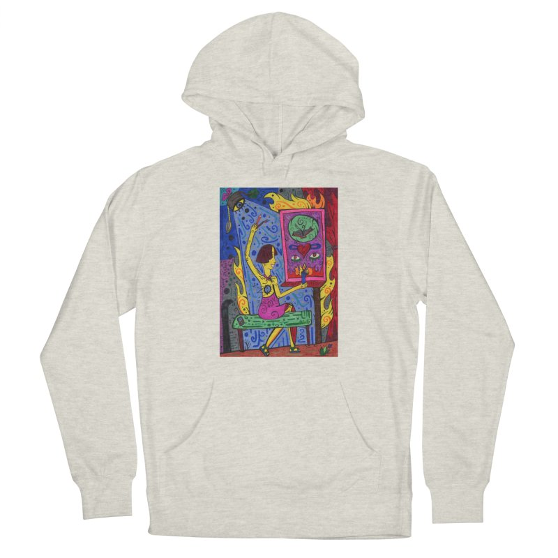 Adult of Candles of the Patella Tarot Fitted Clothing Styles Pullover Hoody by Paint AF's Artist Shop