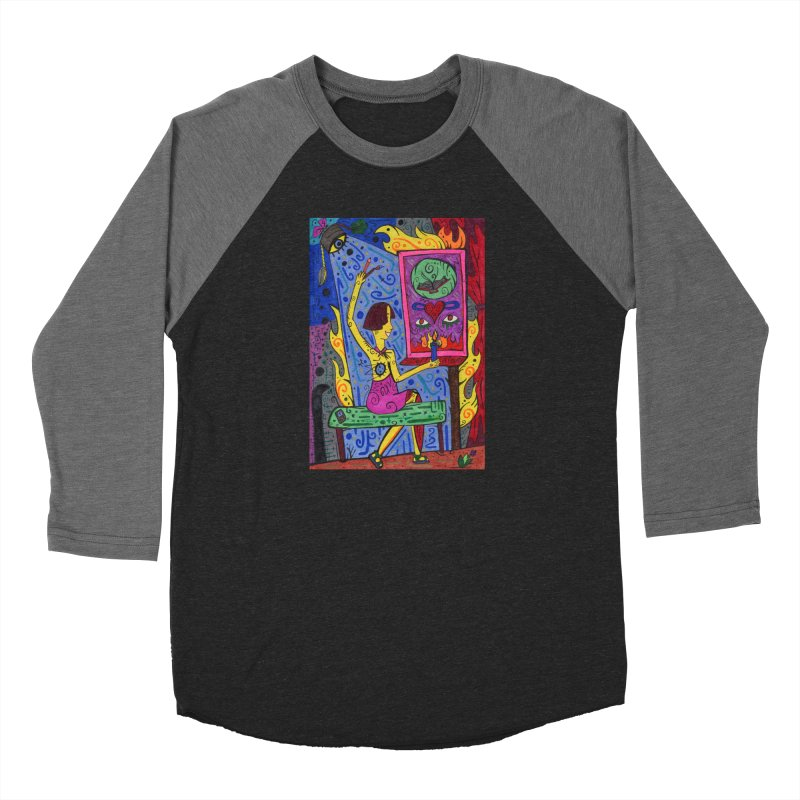 Adult of Candles of the Patella Tarot Fitted Clothing Styles Longsleeve T-Shirt by Paint AF's Artist Shop