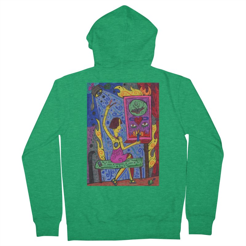 Adult of Candles of the Patella Tarot Fitted Clothing Styles Zip-Up Hoody by Paint AF's Artist Shop