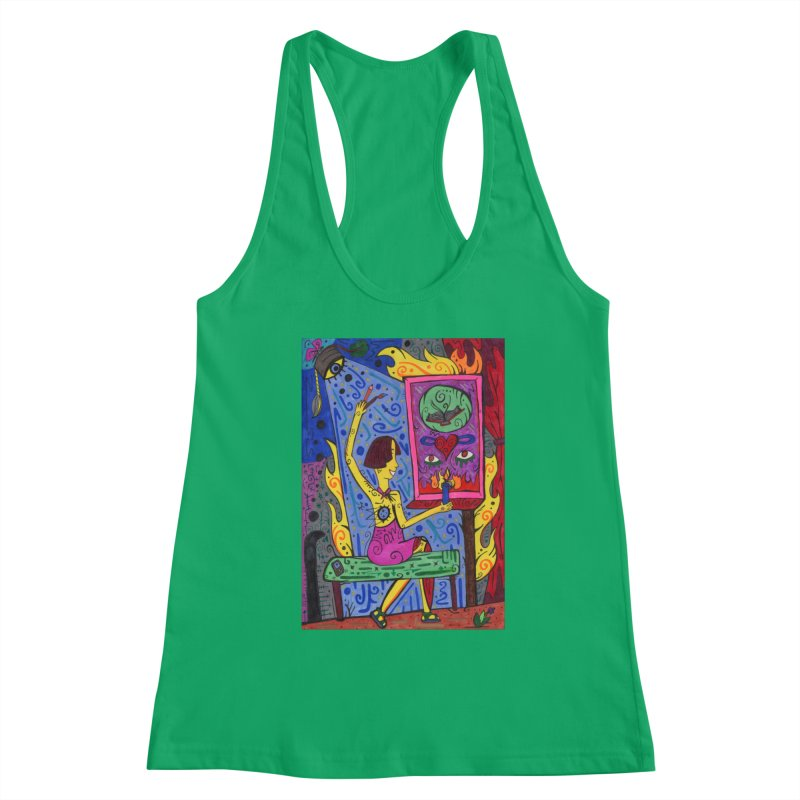 Adult of Candles of the Patella Tarot Fitted Clothing Styles Tank by Paint AF's Artist Shop
