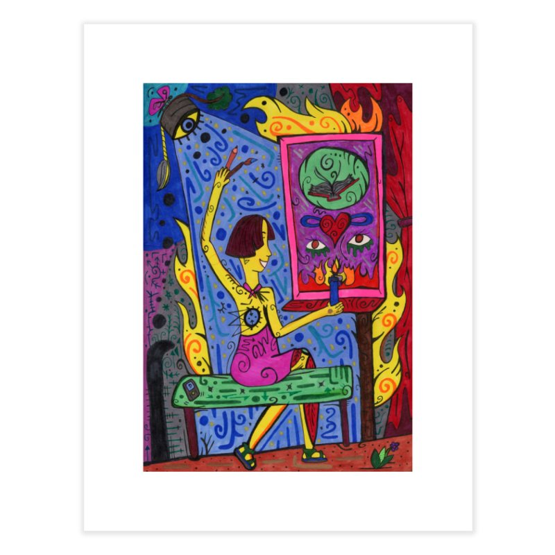Adult of Candles of the Patella Tarot Home, Décor & Cozy Fine Art Print by Paint AF's Artist Shop