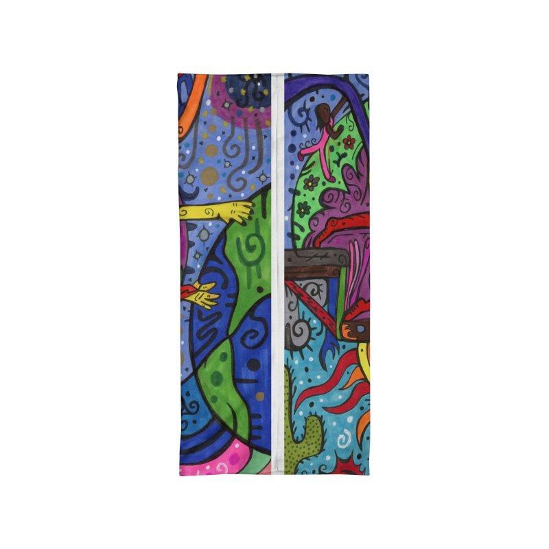 The Patella Tarot - The Bridge (Hierophant) Masks, Gifts & Accessories Neck Gaiter by Paint AF's Artist Shop