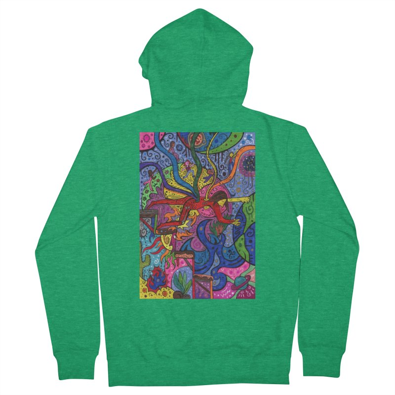 The Patella Tarot - The Bridge (Hierophant) Fitted Clothing Styles Zip-Up Hoody by Paint AF's Artist Shop