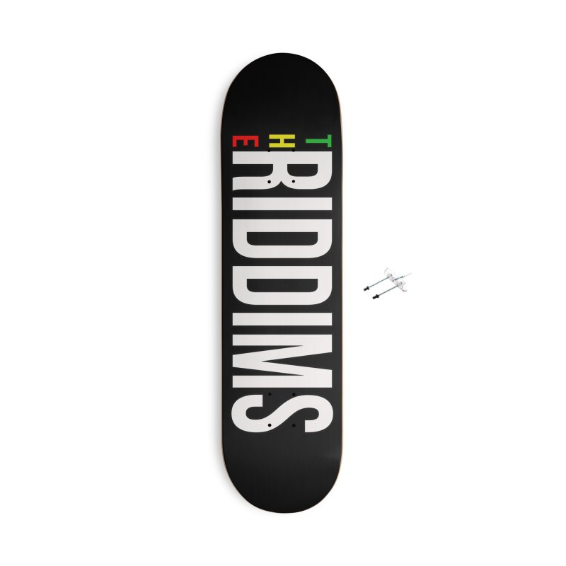 TR White Accessories Skateboard by The Riddims Merch Shop