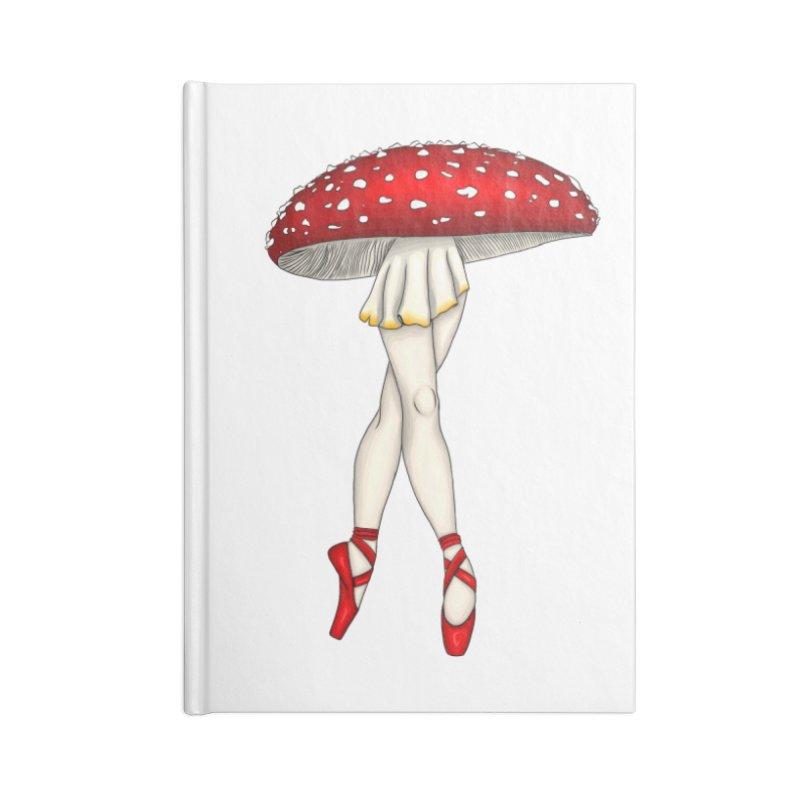 Toadstool Ballerina Accessories Notebook by ThirdEyeMonsters's Artist Shop