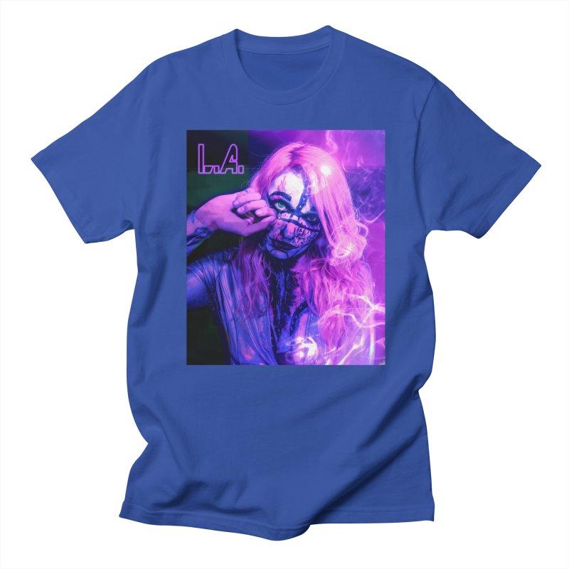 L.A. in Men's Regular T-Shirt Royal Blue by 30&3
