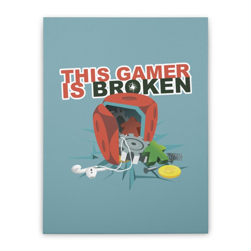 This Gamer is Broken Home Stretched Canvas by This Game is Broken Shop