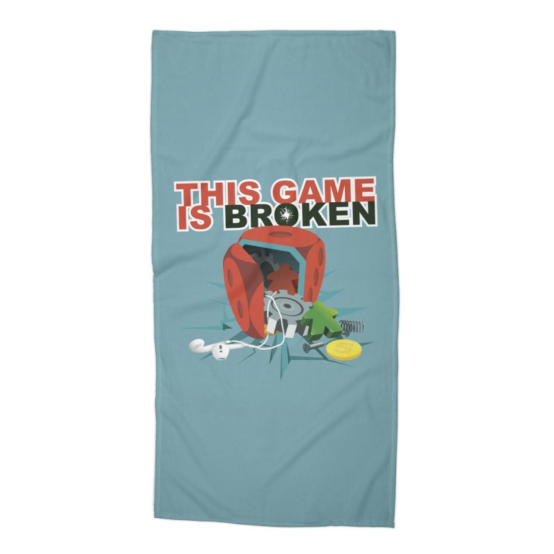 The Official This Game is Broken Brand Accessories Beach Towel by This Game is Broken Shop