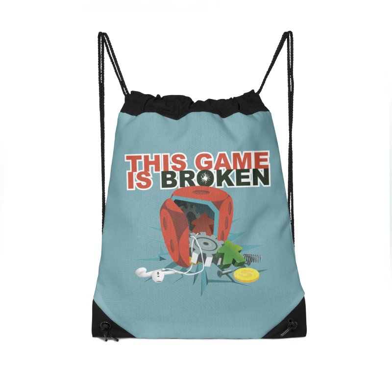 The Official This Game is Broken Brand Accessories Drawstring Bag Bag by This Game is Broken Shop