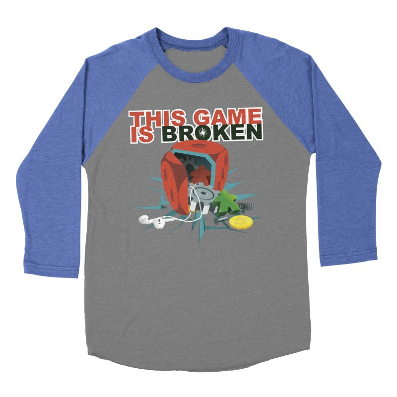 The Official This Game is Broken Brand Women's Baseball Triblend Longsleeve T-Shirt by This Game is Broken Shop