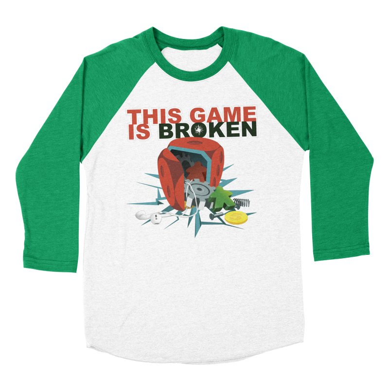 The Official This Game is Broken Brand Men's Baseball Triblend Longsleeve T-Shirt by This Game is Broken Shop